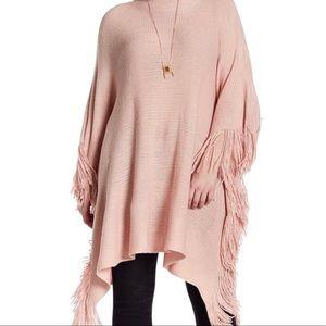 Melissa McCarthy Seven7 pink poncho shawl 0X